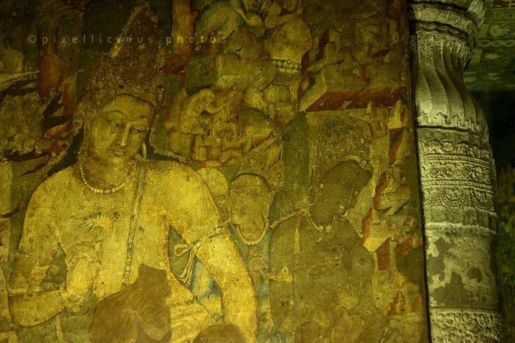 Ajanta Caves | Avalokiteśvara Painting