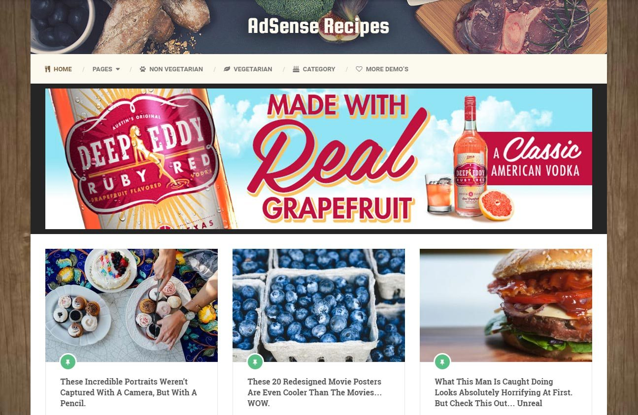 Adsense Responsive WordPress Recipe Theme
