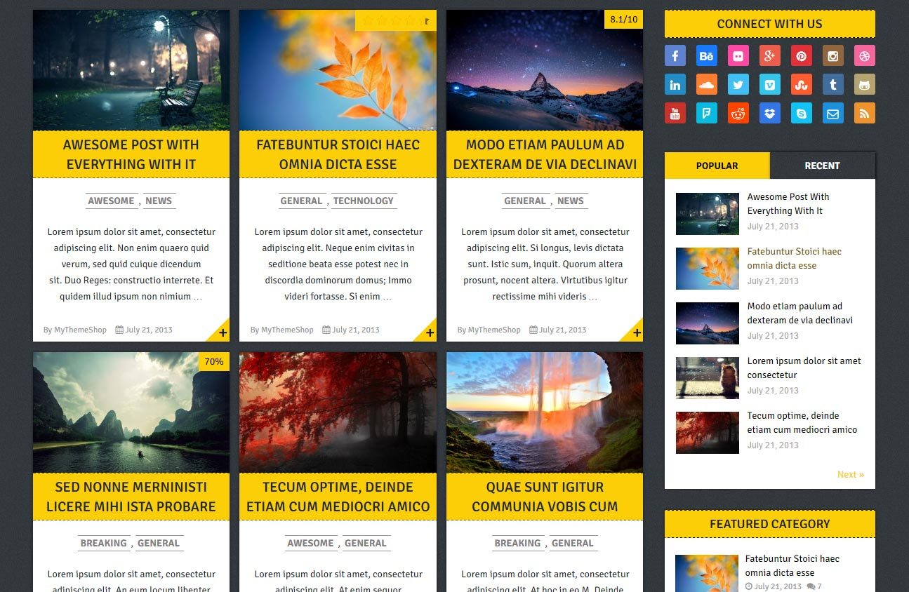 Free Gridblog Responsive WordPress Theme
