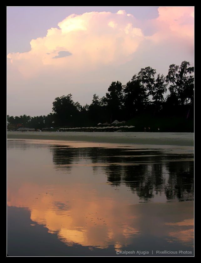 Reflection at Mandrem Beach, Mandrem Beach, North Goa