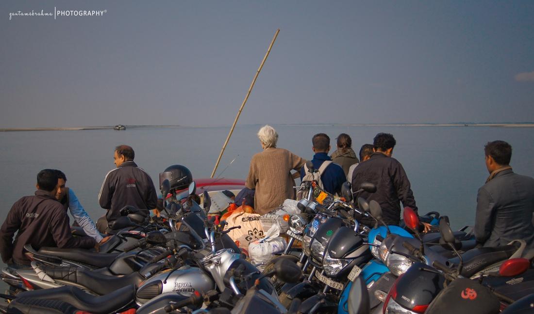 Crossing Brahmaputra River to Kamalabari Ghat