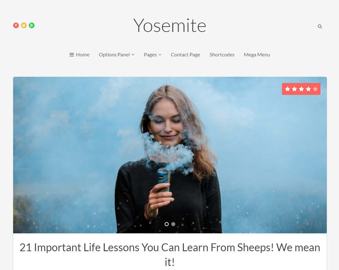 Yosemite Responsive Wordpress Theme