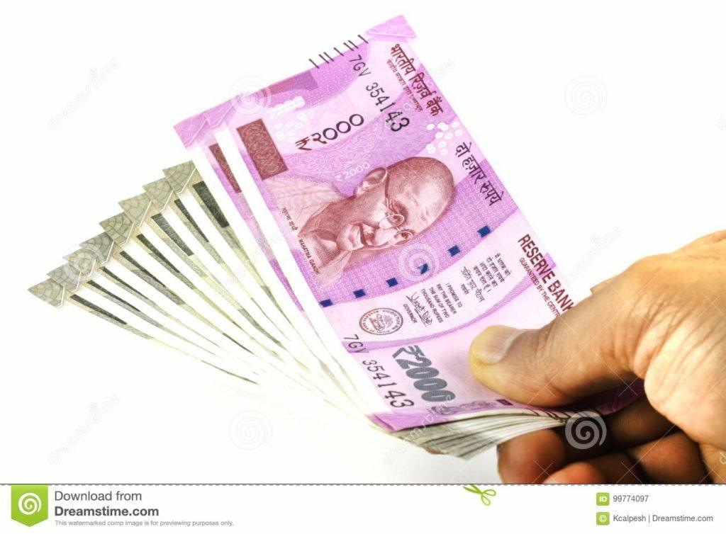 Indian Currency Images - Rupees in Hand