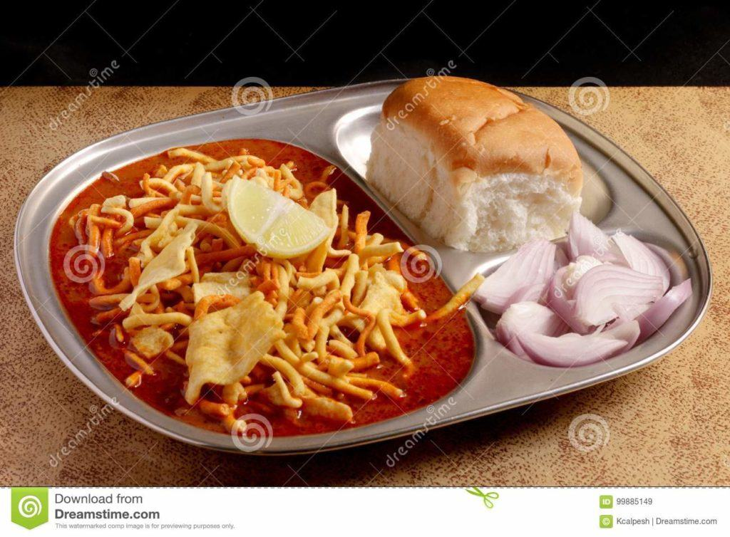 Indian Food Images - Misal Pav