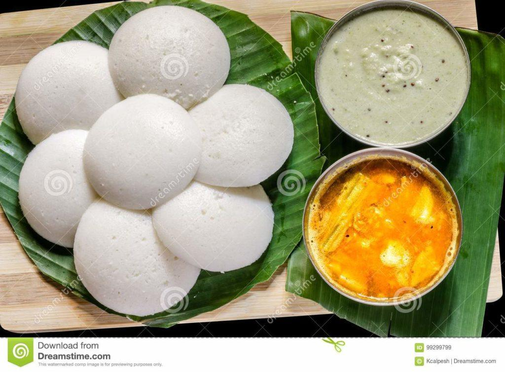 Indian Food Images - Idli Sambhar
