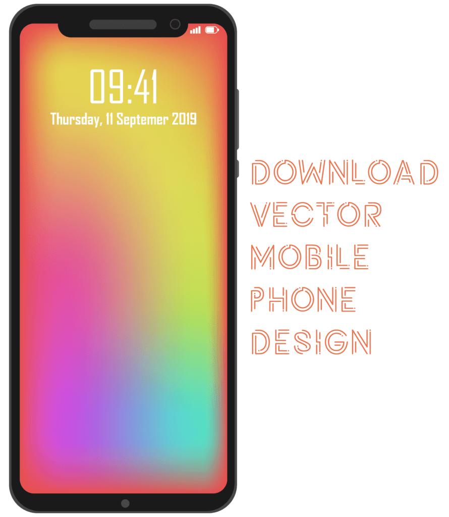 Vector Mobile Phone Design - EPS