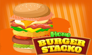 Hoho's Burger Stacko Game Online