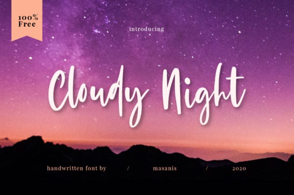 cloudy-night-cursive-font-free-commercial