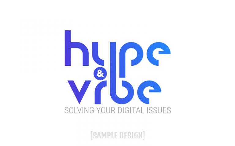 Sample Logo for Client Hype & Vibe