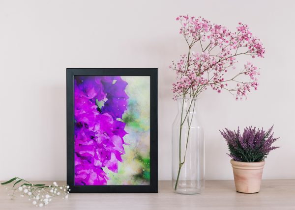 bougainvillea-floral-water-color-style-framed-art