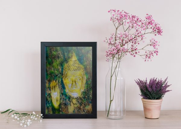 buddha-water-color-style-frmed-art