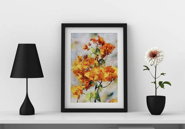 nature-floral-water-color-style-framed-art