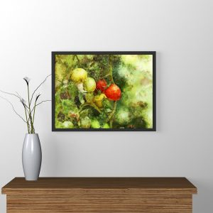 tomatoes-water-color-style-framed-art