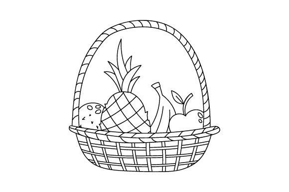 Fruit-Basket-Coloring-Page-580x386