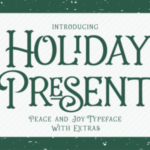 Holiday Present Display Font