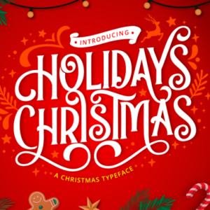 Holidays Christmas Display Font