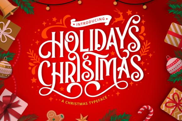 Holidays Christmas Display Font