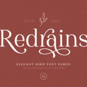 Redrains Display Font Download