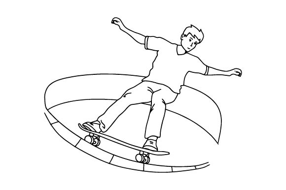 Skateboarder-coloring-page-580x386