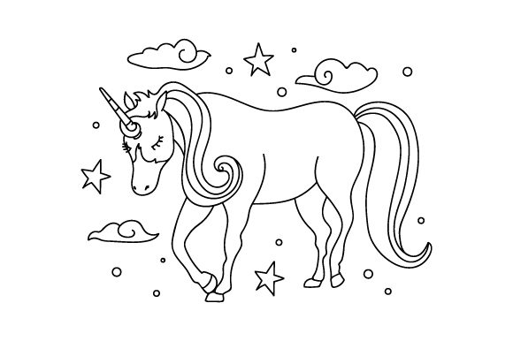 Unicorn-Coloring-Page-580x386