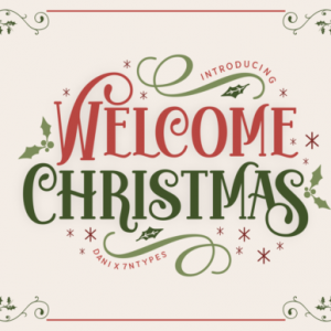 Welcome Christmas Display Font
