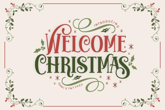 Welcome Christmas Display Font