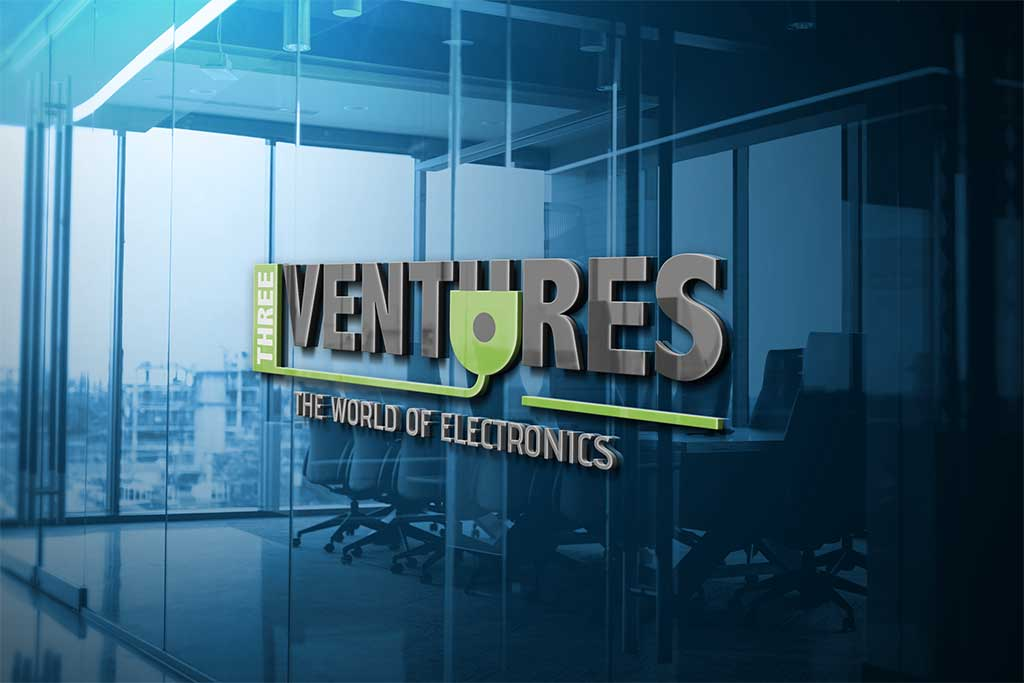three-ventures-logo-design-by-pixellicious