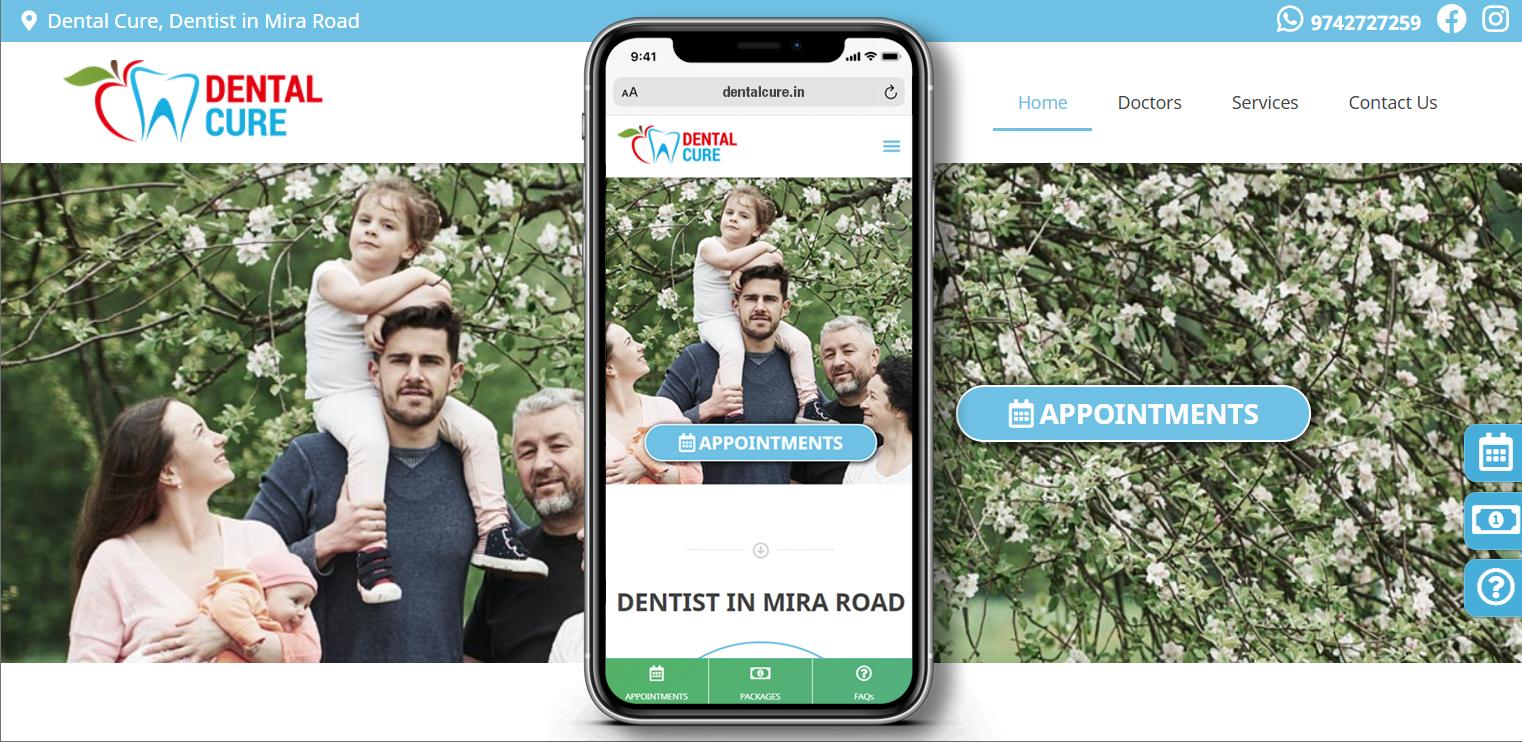 Dental Cure WordPress Website by Pixellicious