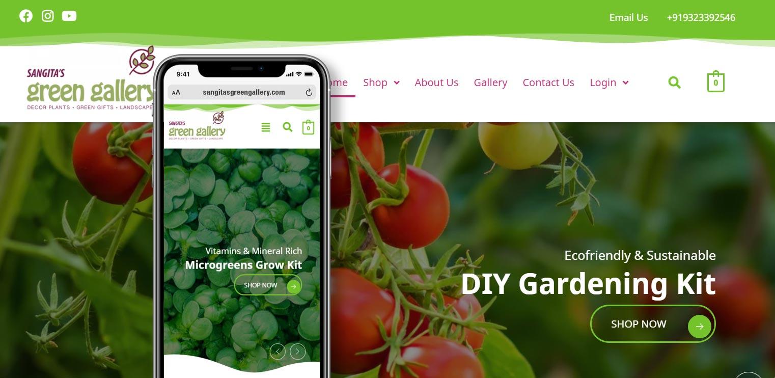 Sangita's Green Gallery, Ecommerce WordPress by Pixellicious